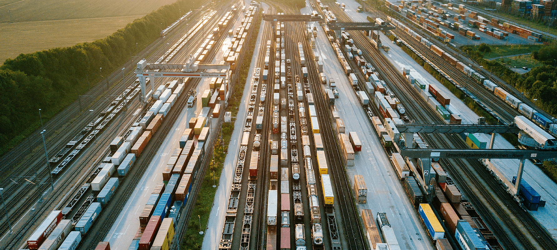 Güterverkehr von oben