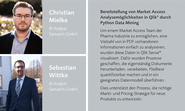 Christian Mielke und Sebastian Wittke sprechen auf dem datatalk als BI Analyst der Sanvartis GmbH