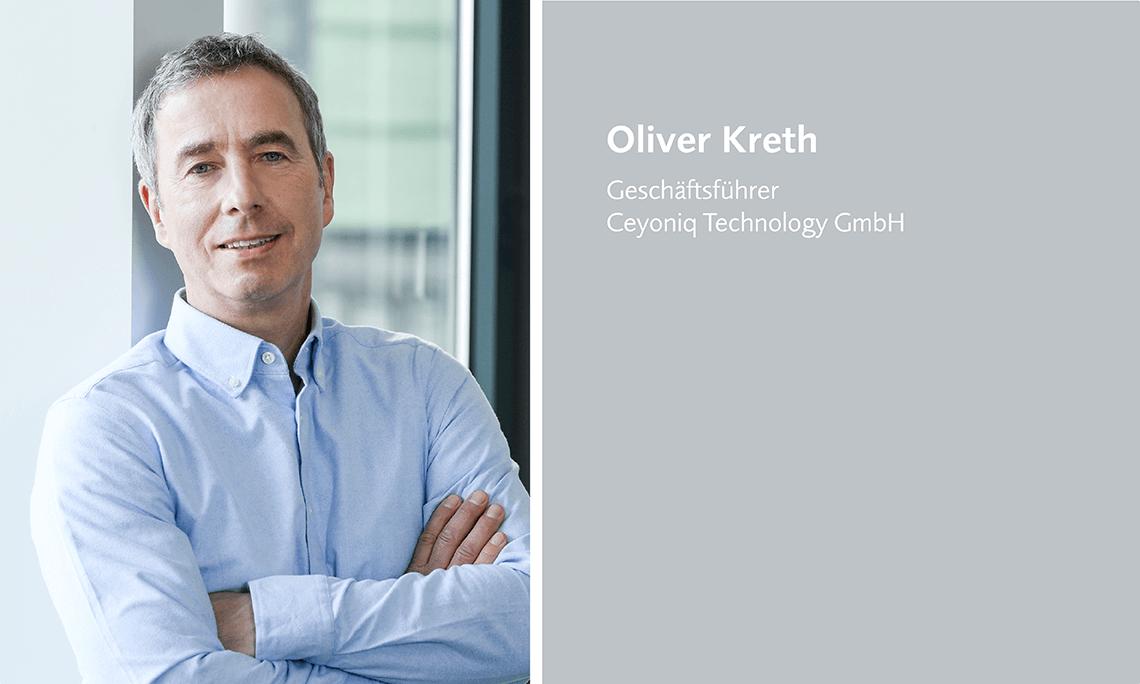 Oliver Kreth, Geschäftsführer Ceyoniq Technology GmbH, spricht auf dem datatalk congress 2021.
